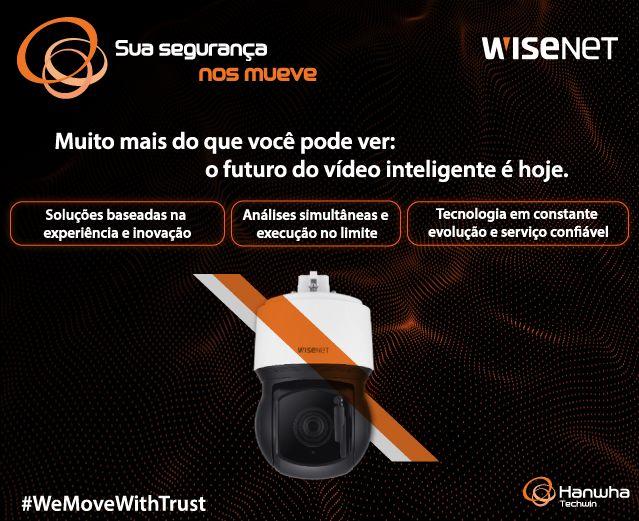 Hanwha Techwin tem se movido em inovação há 30 anos para a segurança de seus usuários