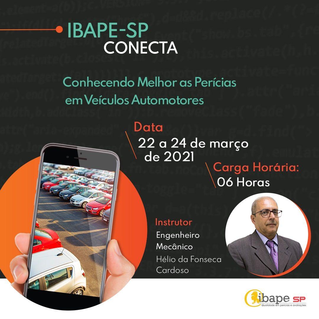Perícia em veículos automotores é tema de curso na plataforma de EAD do Ibape-SP