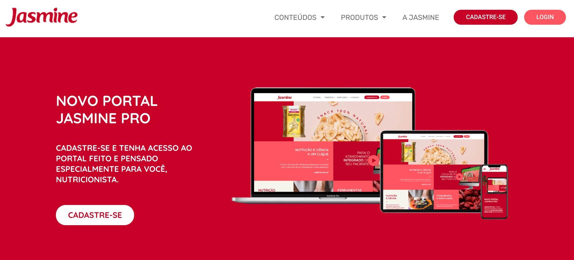 Jasmine Alimentos lança portal exclusivo para nutricionistas e profissionais da saúde aperfeiçoarem atendimentos
